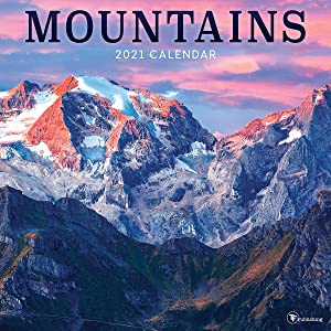 "TF PUBLISHING 2021 Mountains Monthly Wall Calendar - Illustrated with Contacts and Notes Space - Enhance Home or Office Planning and Organization - Premium Gloss Paper 12""x12"""