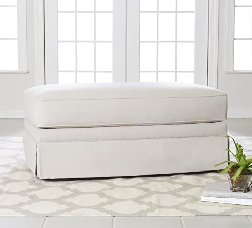 Klaussner Furniture Westlyn Accent Ottoman, 45 , Sand