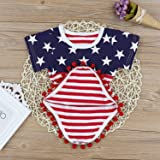 4th of July Toddler Baby Girl Romper American Flag