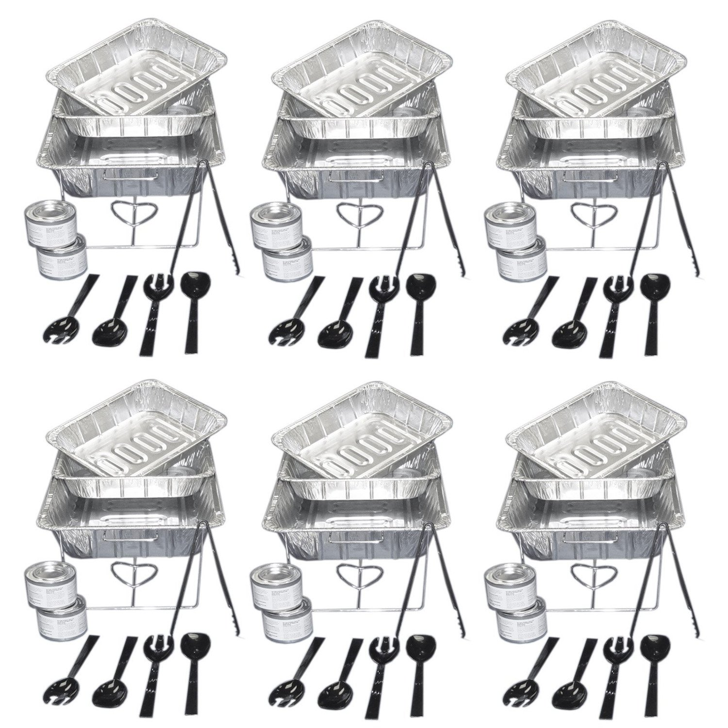 Party Essentials UPK-33, 33 piece Party Serving Kit Includes Chafing Kits and Serving Utensils (2 Pack (6 Sets))