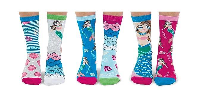Mermazing United Odddsocks - Caja de 6 calcetines para mujer: Amazon.es: Ropa y accesorios