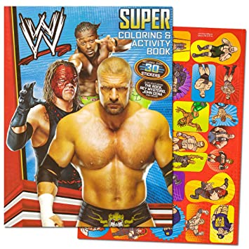 Amazon.com: WWE Giant Coloring Book with Stickers (144 Pages): Toys ...
