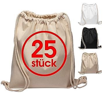 Algodón Turn bolsas 25 unidades, 38 x 42 cm natural Bolsa de ...