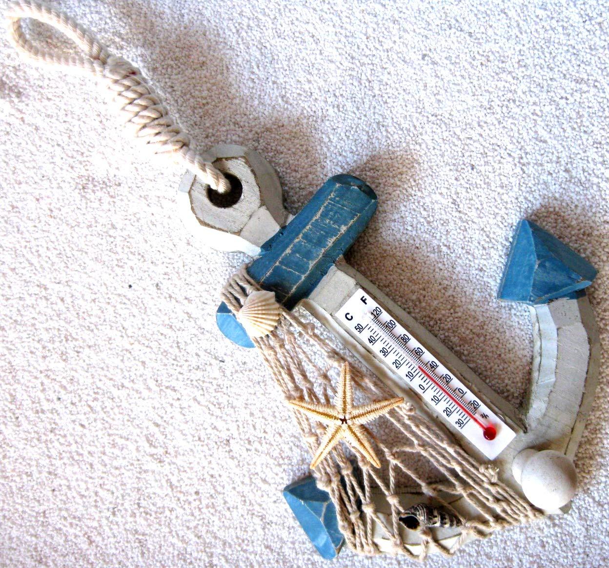Deko Anker 17cm mit Thermometer und Haken