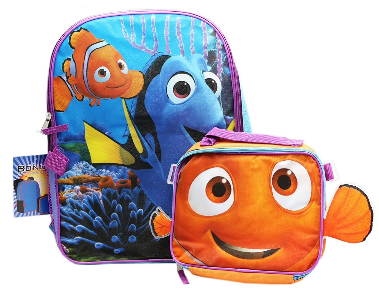 Disney Pixar's Finding Dory Full Size Kids Backpack and Utility Bag (Lunch Bag) Ruz