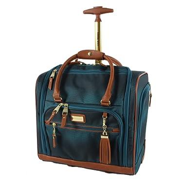 Steve Madden Luggage Wheeled Suitcase Under Seat Bag (Shadow Turquoise)