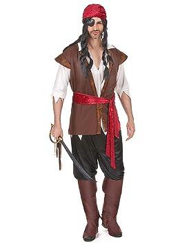 Disfraz de hombre pirata: Amazon.es: Juguetes y juegos