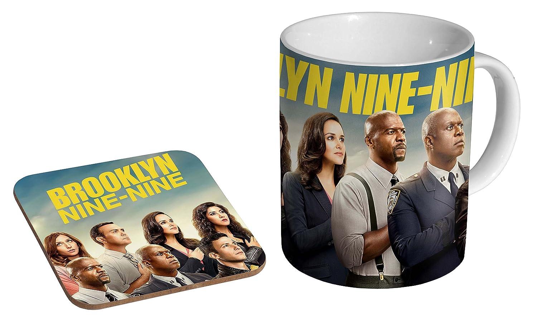Brooklyn Nine Nine Ceramic Coffee MUG + Coaster Gift Set … mugmart
