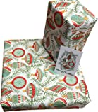 Re-wrapped, carta regalo per Natale 1, palline di natale, foreste e pettirossi, carta da regalo riciclata, ad opera della designer britannica Kate Heiss Re-wrapped - Christmas Baubles - 1 sheet / 2 tags - eco friendly recycled gift wrap wrapping paper - by UK designer Kate Heiss