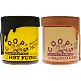 Coop's MicroCreamery Hot Fudge and Salted Caramel Sauce Bundle - 10.6 oz each