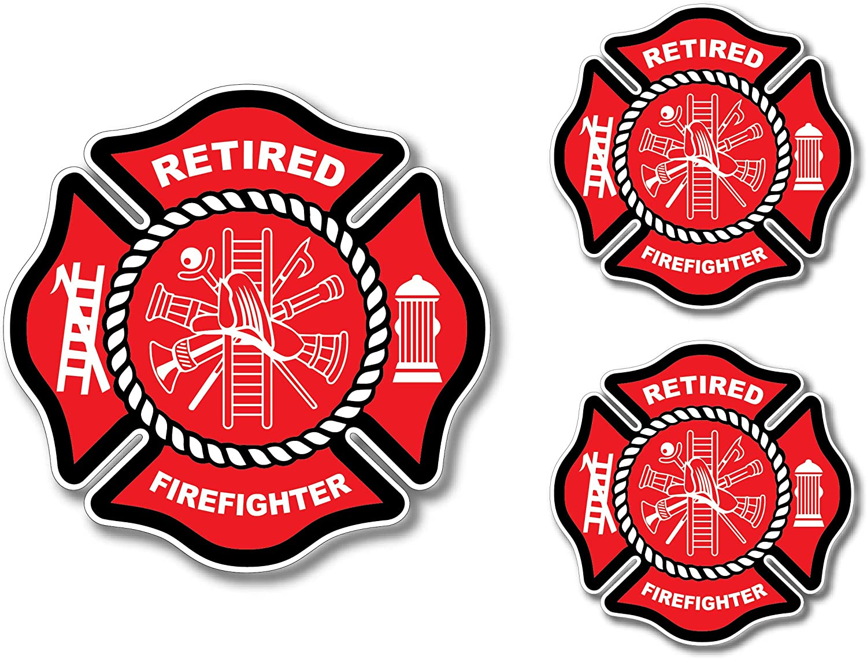Haley Aufkleber Für Den Ruhestand Maltesisches Kreuz Dünne Rote Linie Rote Lives Matter Für Feuerwehrmänner Oder Feuerwehrfrauen 3 Stück Auto