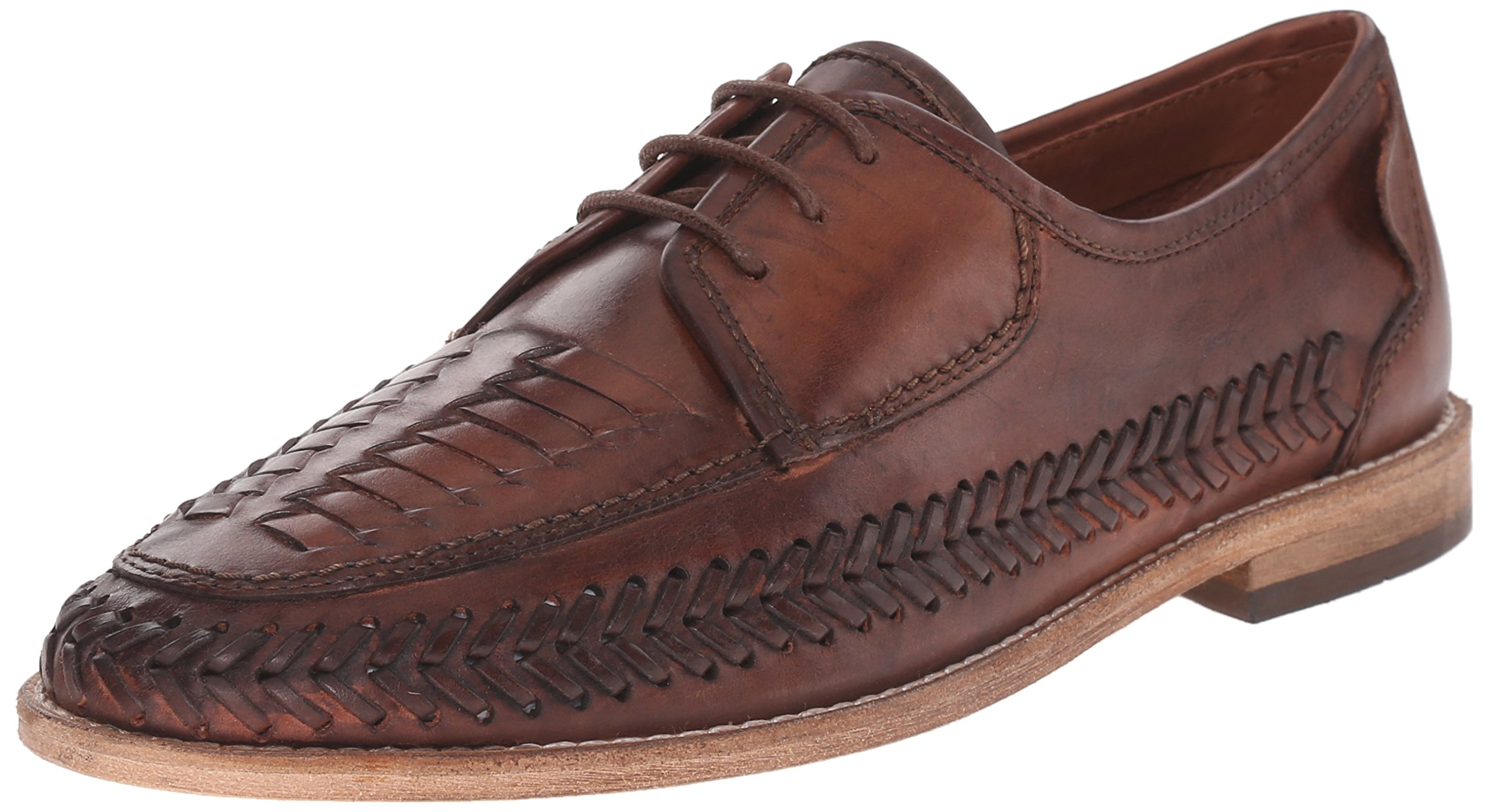 H by Hudson Men's Anfa Oxford, Cognac, 40 EU/7 M US