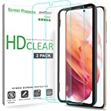 amFilm (2 Pack) Screen Protector for Samsung Galaxy S21 (6.2 Inch), Case Friendly (Easy Install) Hybrid Film Compatible…