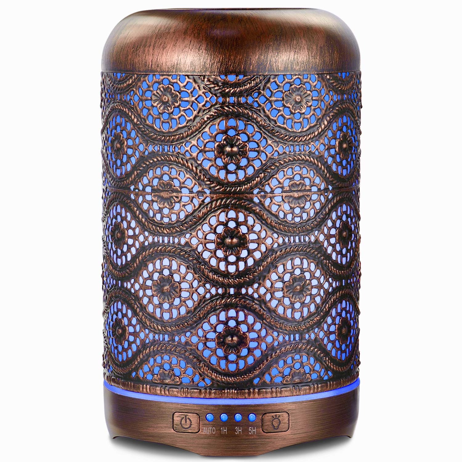 Ultrasonic Essential Oil Diffuser, ARVIDSSON Metal Aromatherapy Diffusers for Essential Oils, 260ml Cool Mist Humidifier, 7 Colors Changing Light & Whisper-quiet