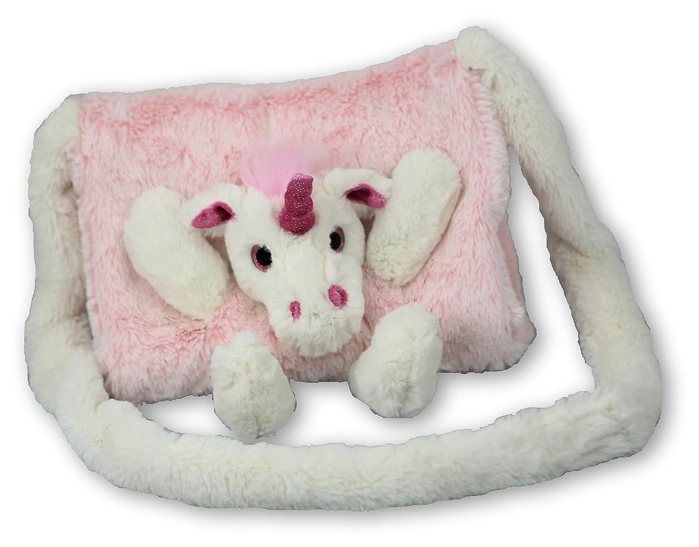 Kindermuff Einhorn pink, Muff super flauschig für Kinder, 23x20cm, 6193 Inware