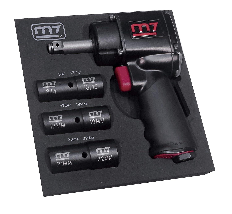 King Tony KT Pro//m7 NC-4620QN3 1//2-InchDrive Mini Impact WRH Socket Set