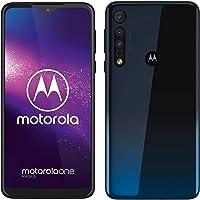 "Motorola One Macro Smartphone Dual-SIM (Pantalla 6,2""-Max Vision-HD+, Cámara Macro Vision, 64 GB/4 GB, Android 9.0) Color azul espacial. Funda protectora."