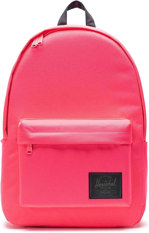Herschel Classic Backpack, Neon Pink/Black, XL 30.0L