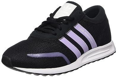 adidas Unisex-Kinder Los Angeles J Laufschuhe, Mehrfarbig (Core Black/Purple  Glow