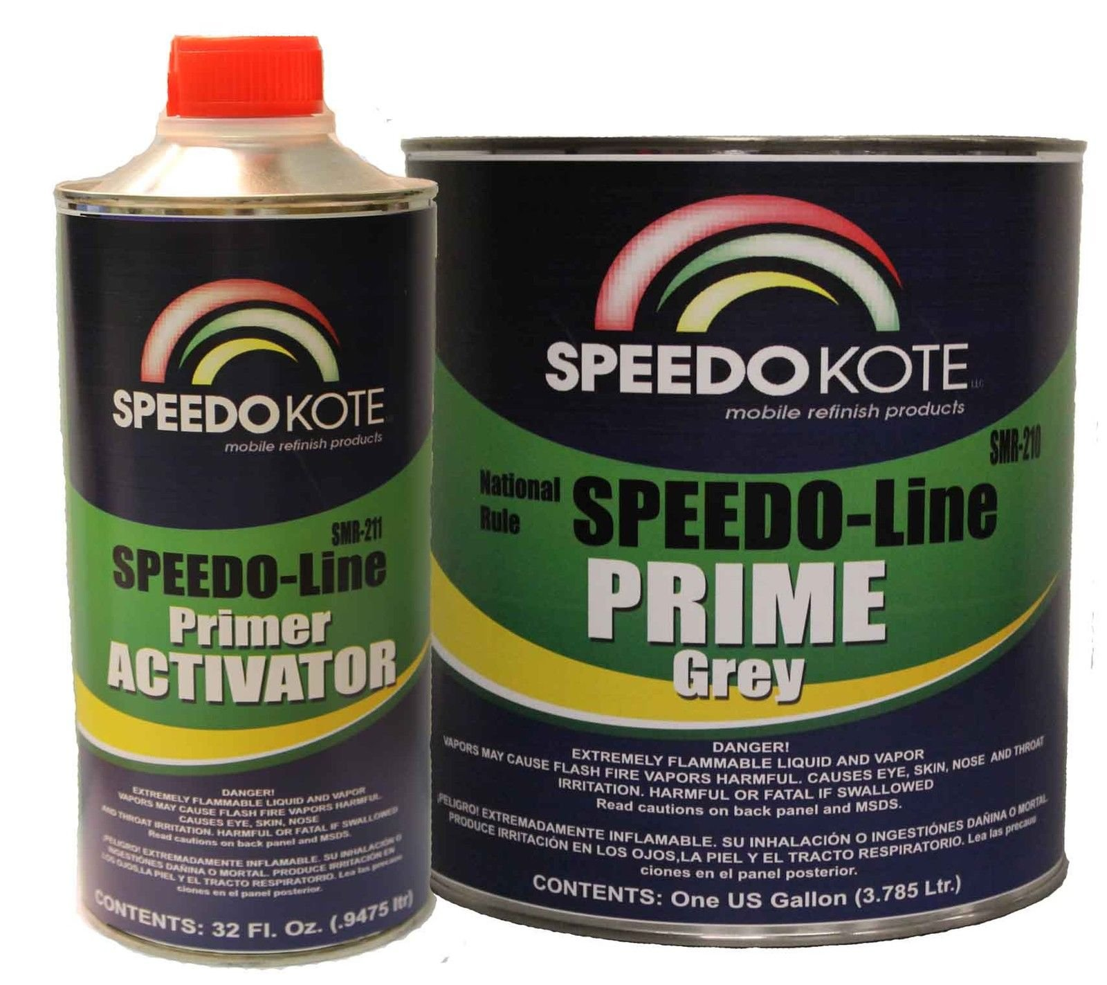 SpeedoKote SMR-210/211 - Automotive High Build 2K Urethane Primer Gray Gallon Kit, Fast Dry, Easy Sanding, Activator is included by Speedokote