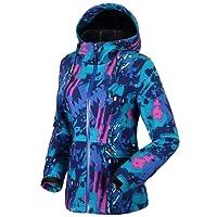 Fastorm Femme Veste de Ski Capuche Coupe-Vent Imperméable Randonnée Manteau Softshell