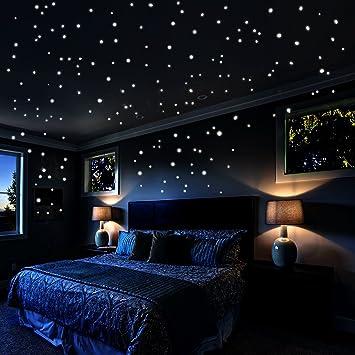 Sternenhimmel Aufkleber Wandsticker 730 Stück Punkte Und Mond Für