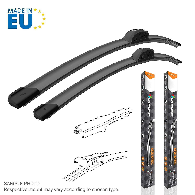 2 limpiaparabrisas para enumerado modelos de automóviles, B 700 + 650 mm: Amazon.es: Coche y moto