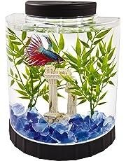 Tetra Betta Fish Aquarium Kit, 1.1 Gallon Half Moon Curved Fish Tank