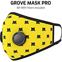 $29 » Grove Mask Air Filter Dust Mask w/ 8 N99 Carbon Filters – Washable Anti Pollution Dust Mask –…