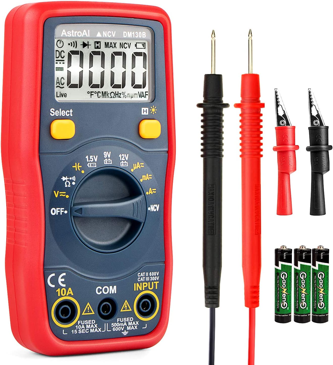 AstroAI Digital Multimeter Auto Ranging Multi Tester DMM/Ohmmeter/Voltmeter 1.5v/9v/12v WAS £15.99 NOW £10.99 w/code F8RGT32X @ Amazon