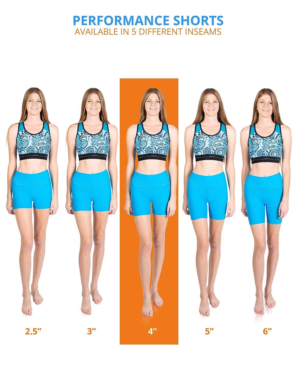 4 Inseam LokoSphere Womens Junior Performance Shorts Sports Gym Activewear