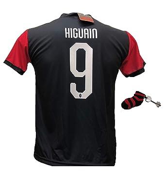 Tercera Camiseta de fútbol Milan Higuain 9 réplica autorizada 2018 ...