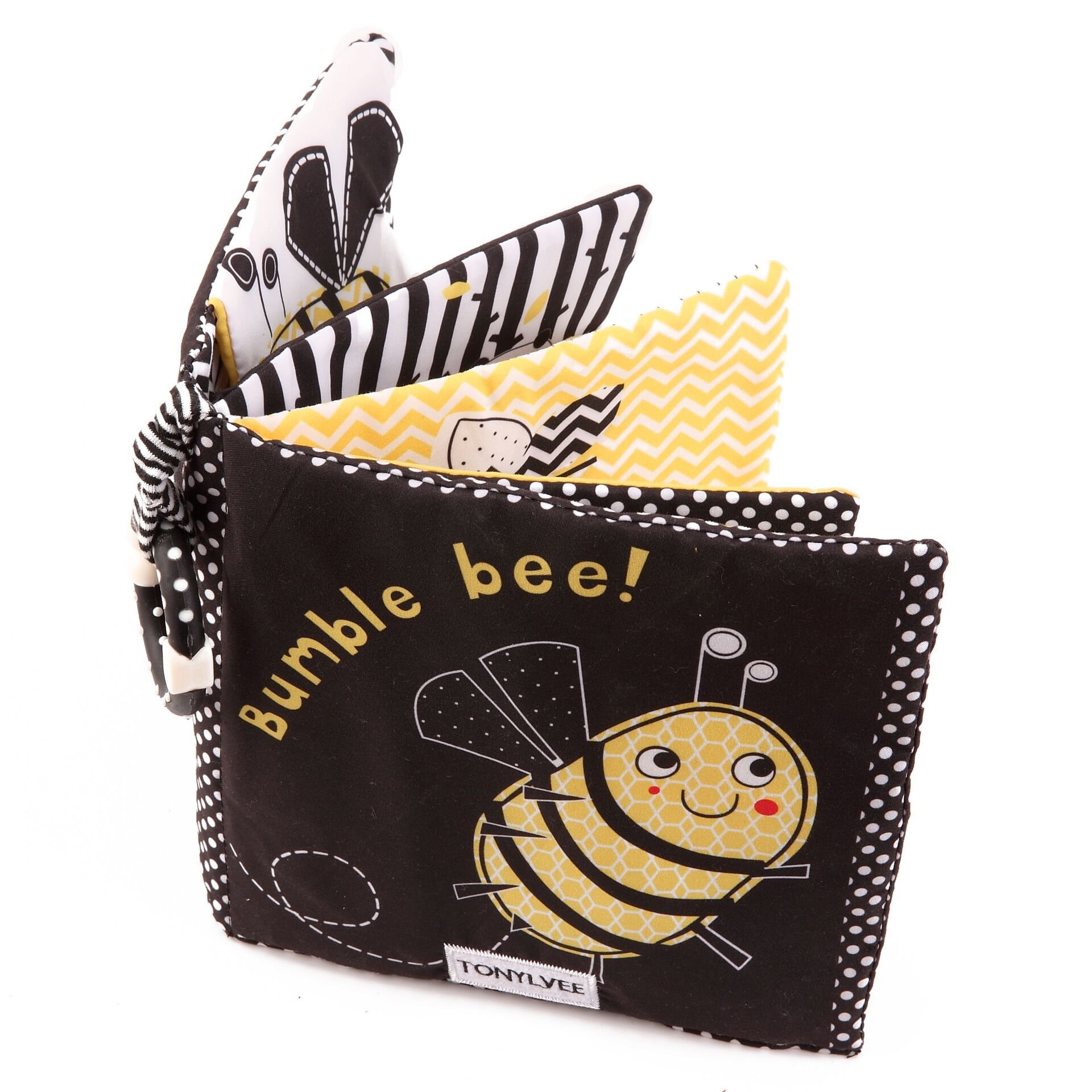 Hosim Baby's Soft Cloth Books Set - Baby Early Education Development Learning Toys, Fabric Cloth Colorful Activity Baby Book Infant Toddlers (Bumble Bee)