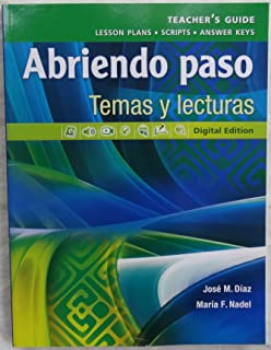 Ap spanish preparing for the language and culture examination pearson abriendo paso temas y lecturas teachers guide fandeluxe Image collections