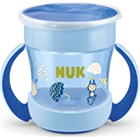 NUK - NUK Mini Magic Cup taza para sorber   Borde a prueba de derrames de 360°   +6 meses   Asas para facilitar la…