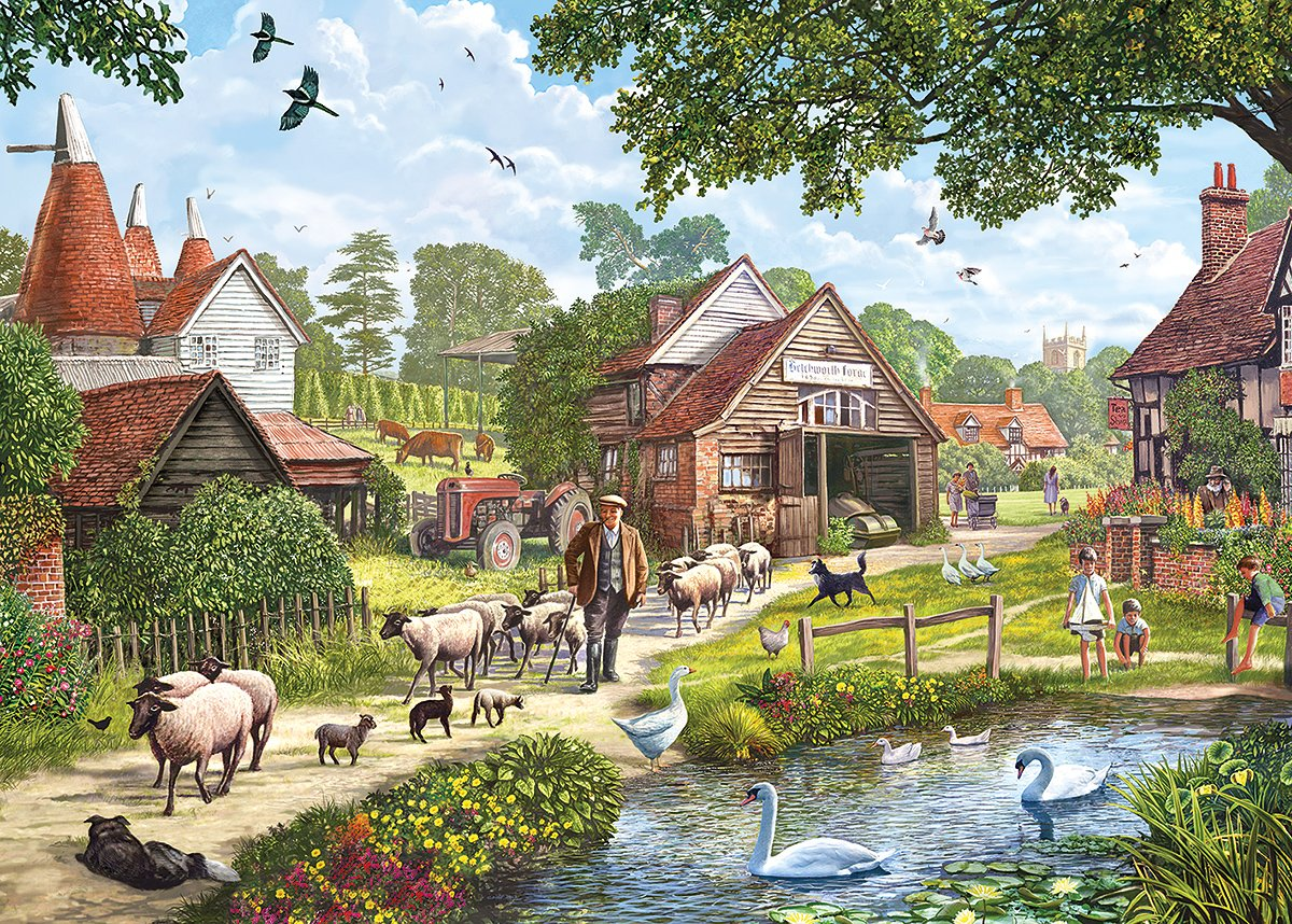 Gibsons Hop Country Jigsaw Puzzle 1000 Piece Amazoncouk Toys Games
