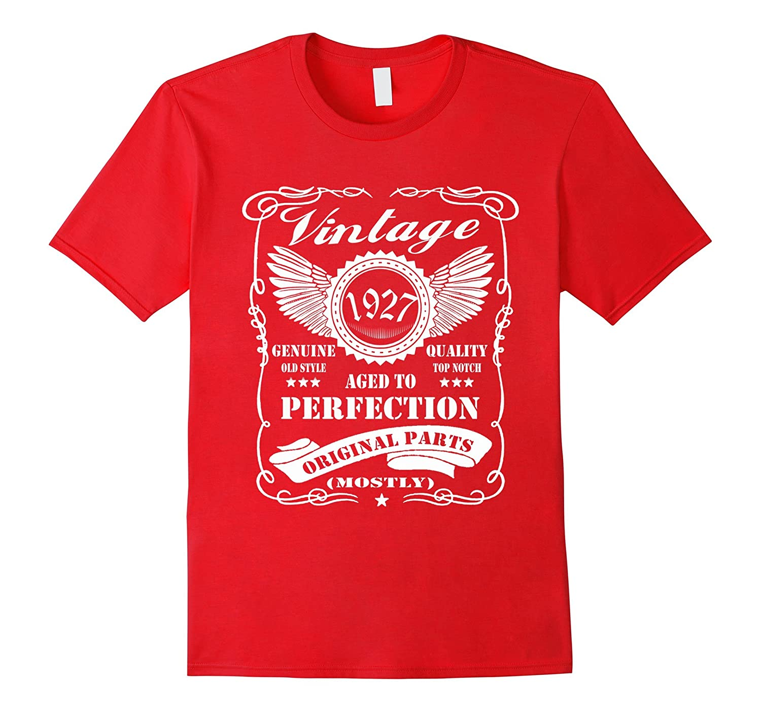 90th Birthday T-Shirt Vintage Made in 1927 Gift ideas Guys-PL