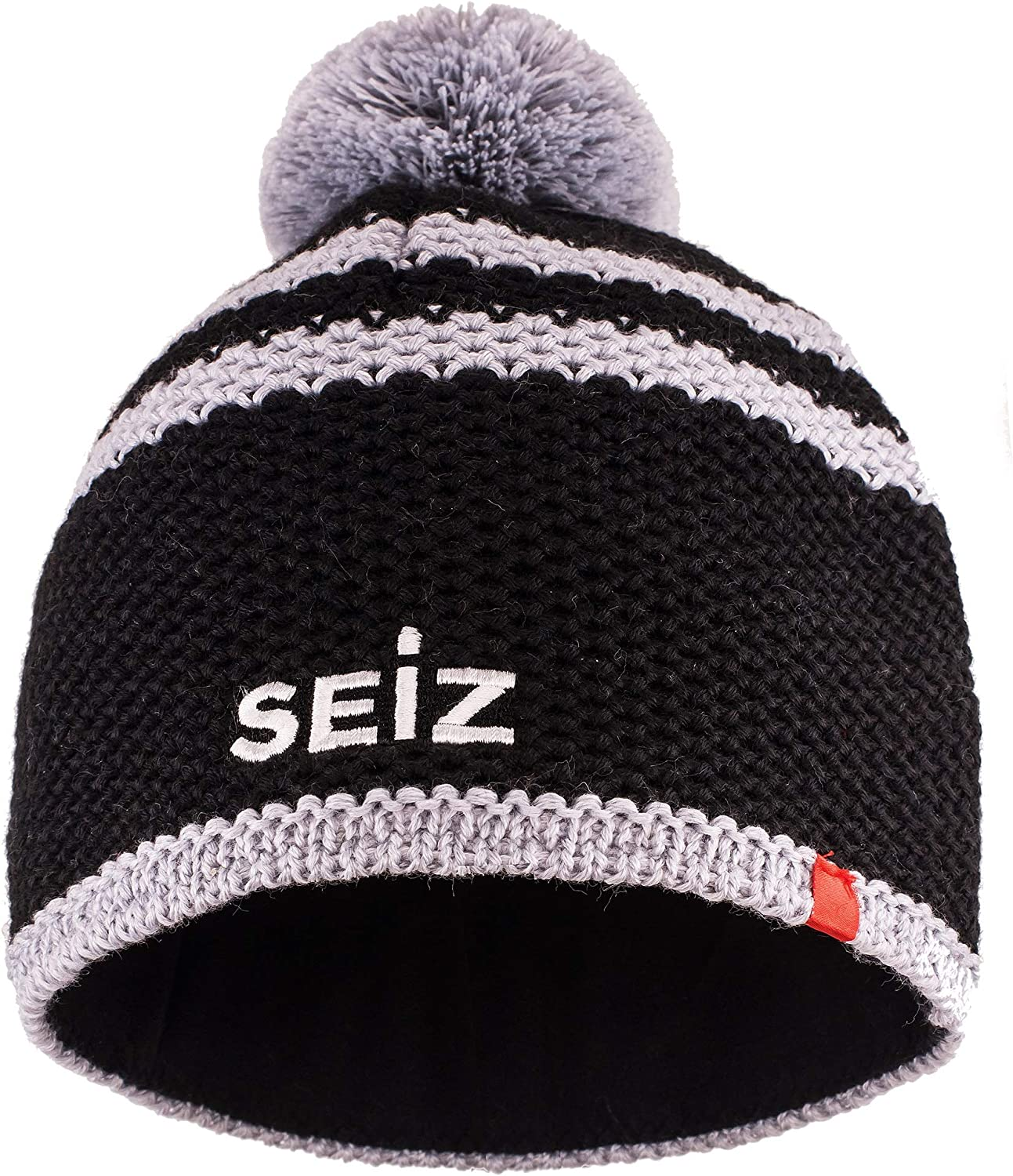 SEiZ Unisex Adults Knitted Hat Sw//Gr