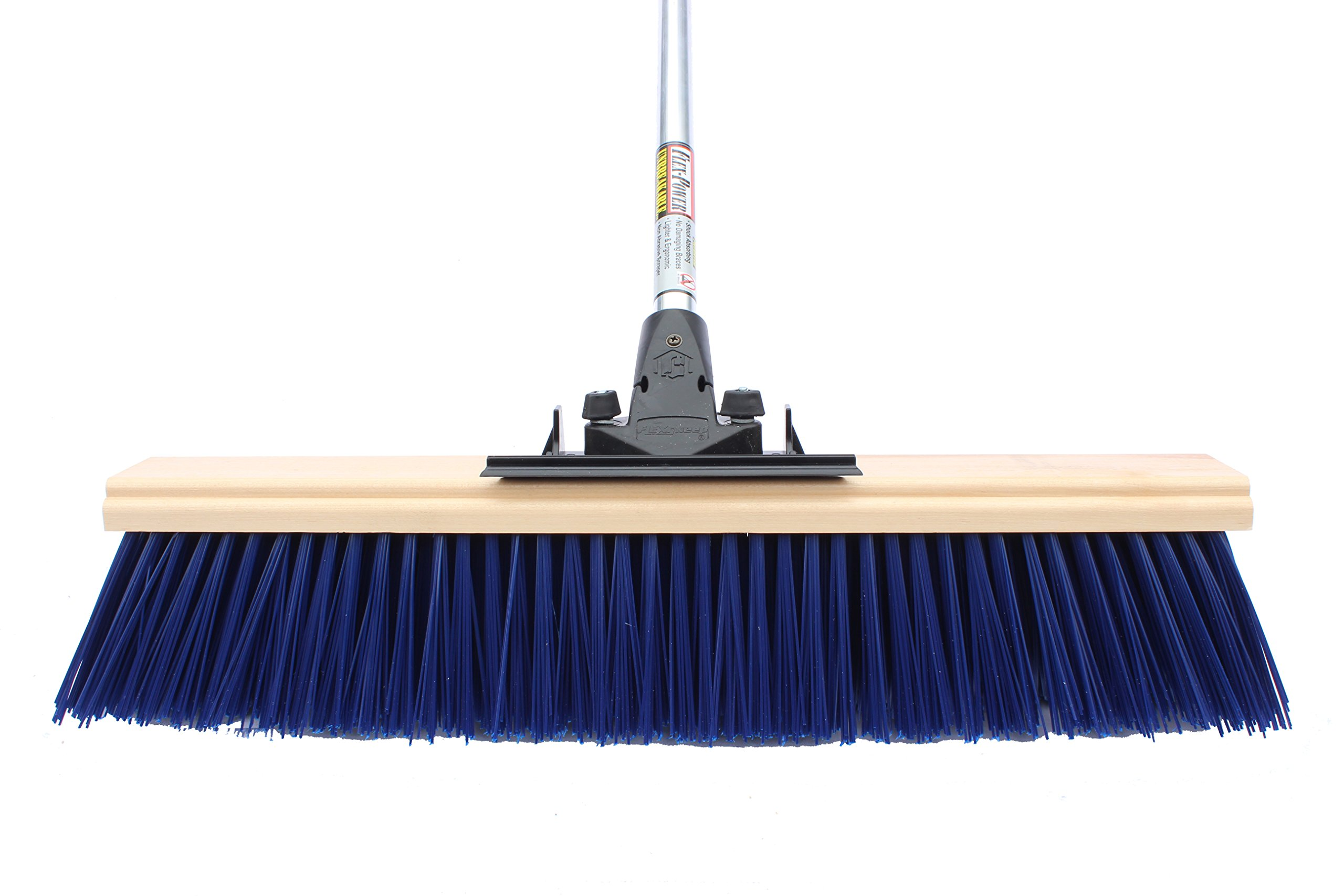 FlexSweep Unbreakable Commercial Push Broom 24'' Extra Coarse STREET SWEEPER by FlexSweep