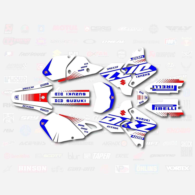 White Blue Rise Racing Graphics Decal Kit fits Suzuki Drz400 Drz 400 Drz400sm 400sm