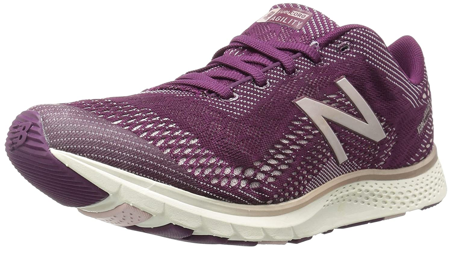 New Balance Women's FuelCore Agility v2 Cross Trainer B01MQZQKN6 7 D US|Dark Mulberry/Faded Rose