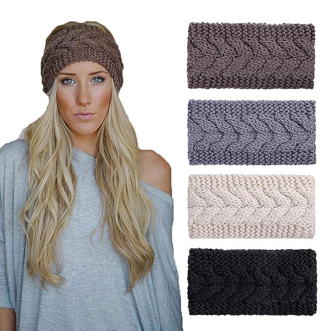 Women/'s knitted Headband Crochet Winter Warmer Lady Hairband Hair Band Headwrap