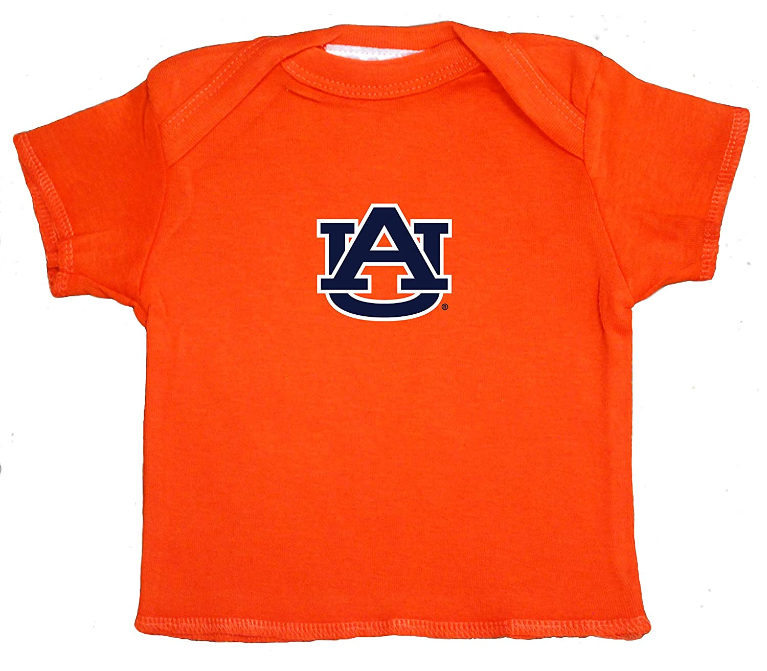 Auburn Tigers NCAA Baby Newborn Orange Lap Shoulder T-Shirt Tee 0-3 Months