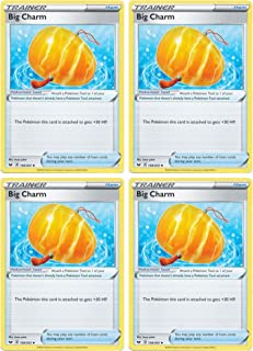 product image for Pokemon Card - Big Charm - Sword and Shield Base - x4 Card Lot Playset - 158/202 Uncommon