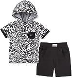 Calvin Klein Baby Boys 2 Pieces Hoody Shorts Set