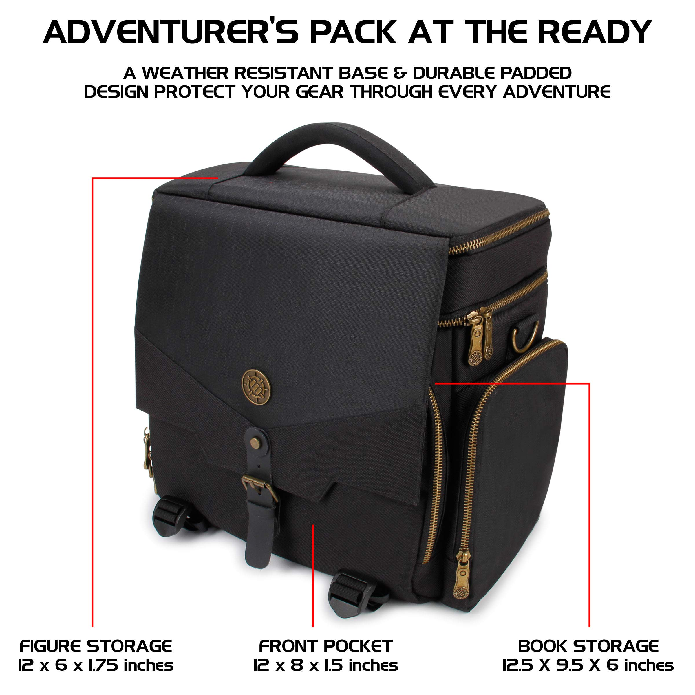 ENHANCE Tabletop RPG Adventurer's Bag - Dungeons & Dragons Travel Bag fits Player's Handbook, Dungeon Master's Guide & More - Padded Mini Figure Storage, Dice & Token Pockets (Fits 4-8 Books) by ENHANCE (Image #2)