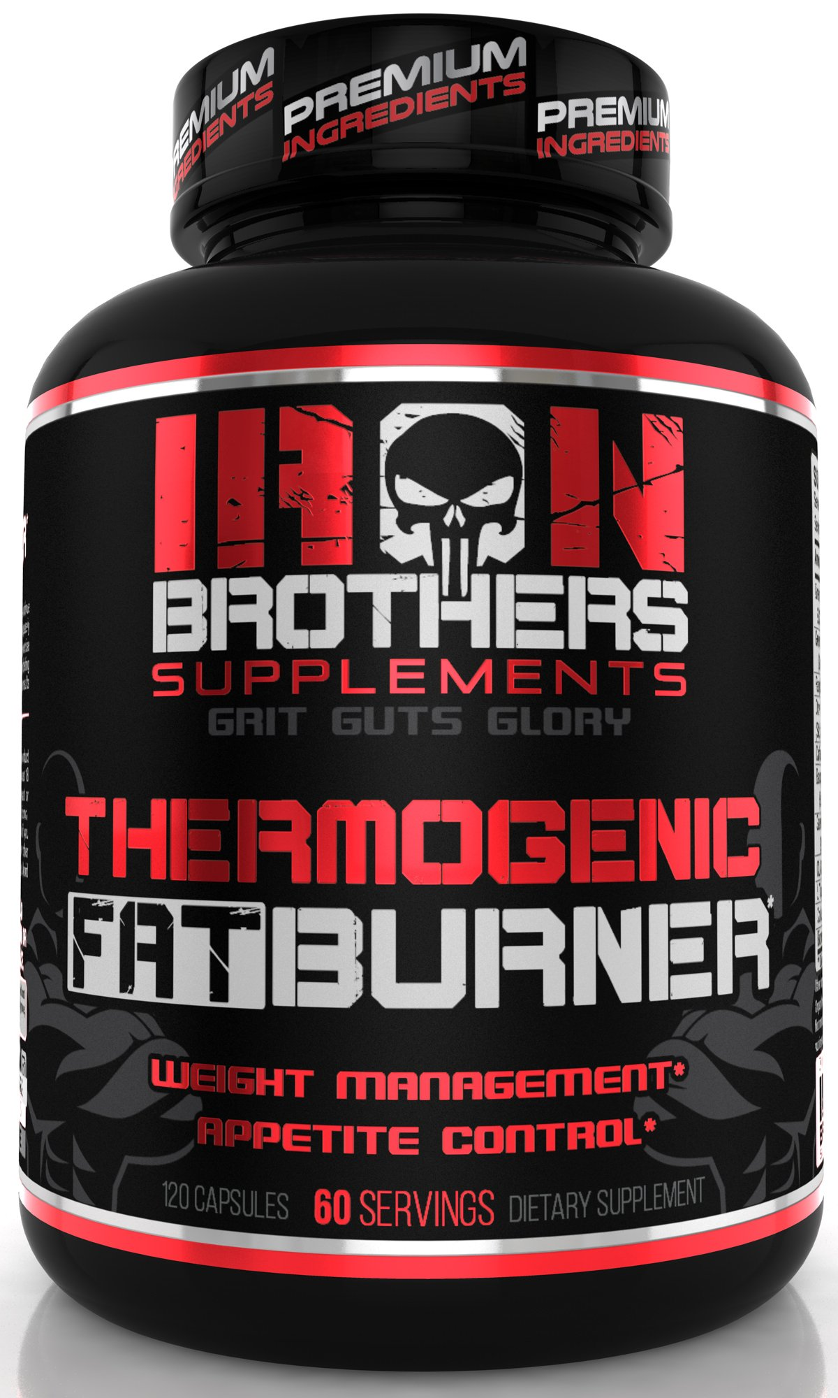 Thermogenic Fat Burners for Men - Weight Loss Women - Appetite Suppressant with Green Tea Extract - Belly Fat Burner- Lean Burn Support - Garcinia Cambogia - 30 Servings - 120 Veggie Capsules by Iron Brothers Supplements