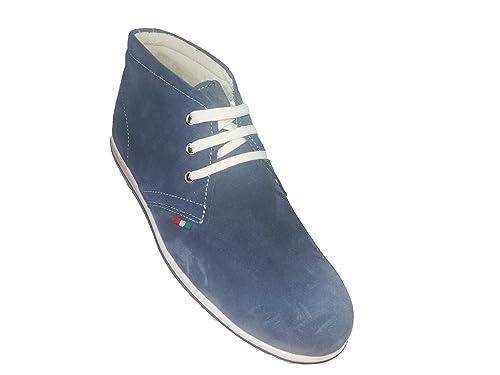 Sneakers Polacchine BEIGE Scarpe estive stivaletto uomo VERA PELLE estate -  made in italy - polacchina 90abb8bd443