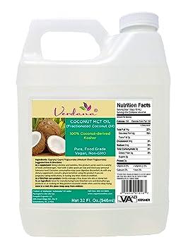 Organic Verdana MCT Fractionated Genuine 32-ounce Coconut Oil