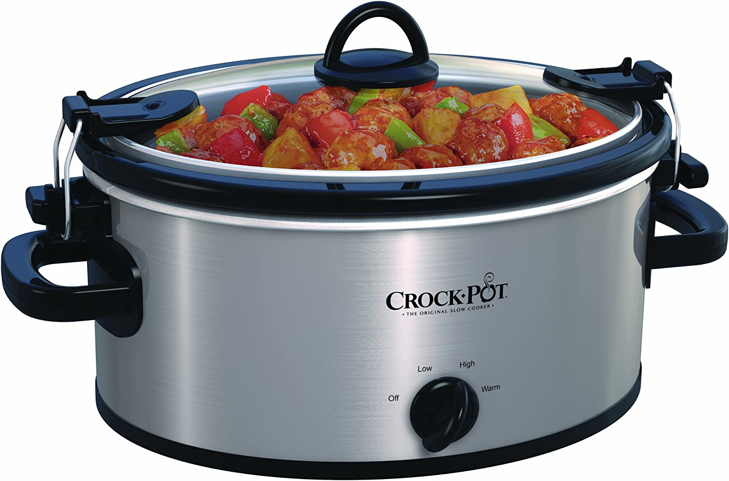 Silver Crock-Pot SCCPVL400-S 4-Quart Cook and Carry Slow Cooker Stainless Steel